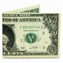 ≪mighty wallet≫ 財布 2つ折り札入れ ドル / 75341-03