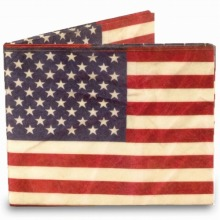 ≪mighty wallet≫ 財布 2つ折り札入れ USA / 75341-10
